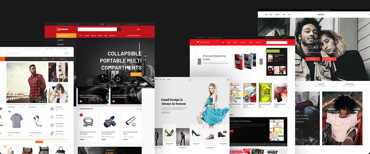 joomla ecommerce website design