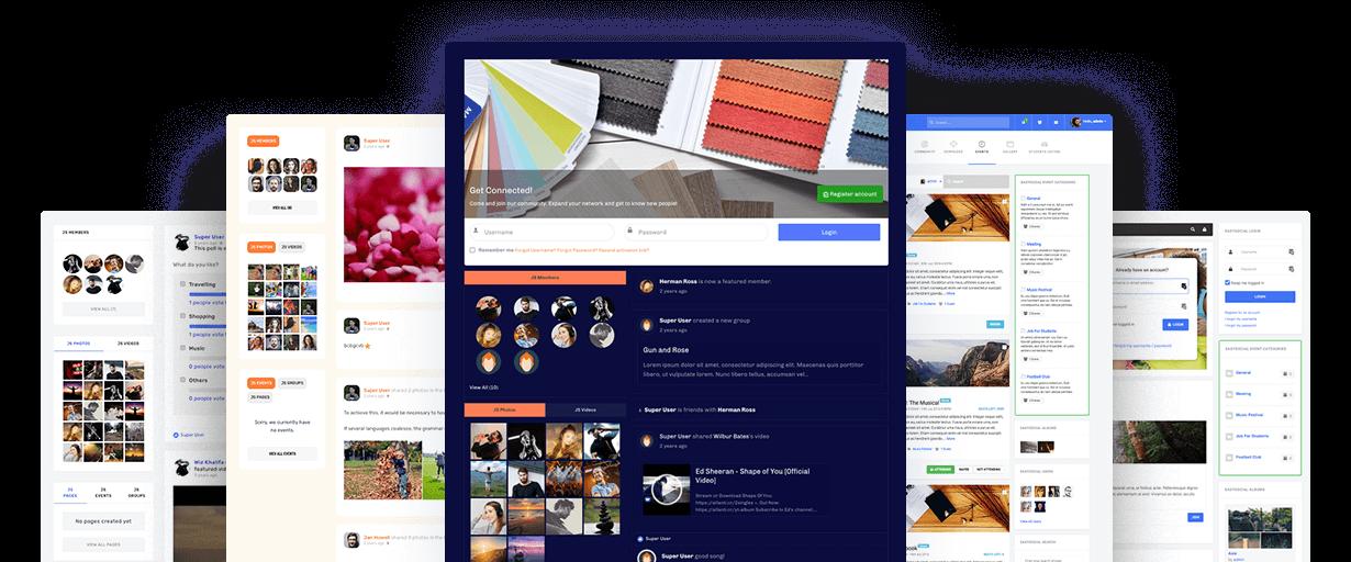 joomla social network website design