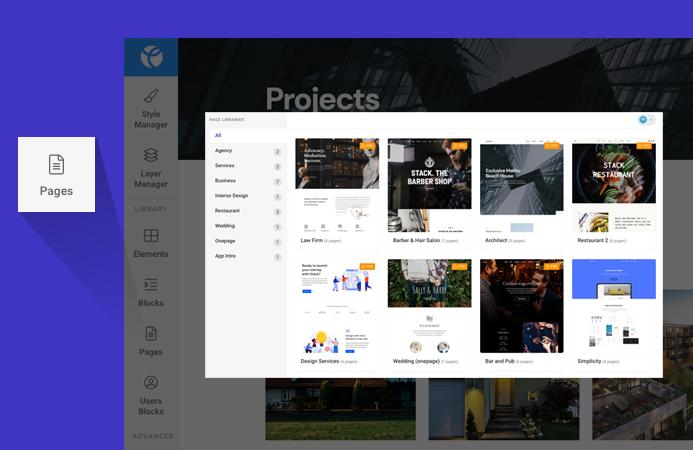 joomla page builder page insert