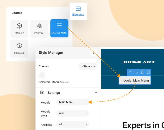 joomla page builder menu module