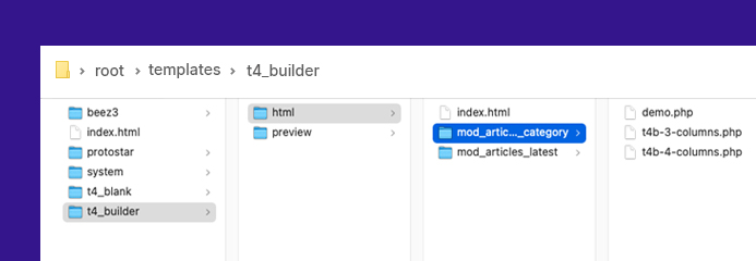 joomla page builder layout override