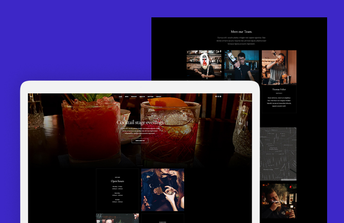 Joomla template for bar and pub