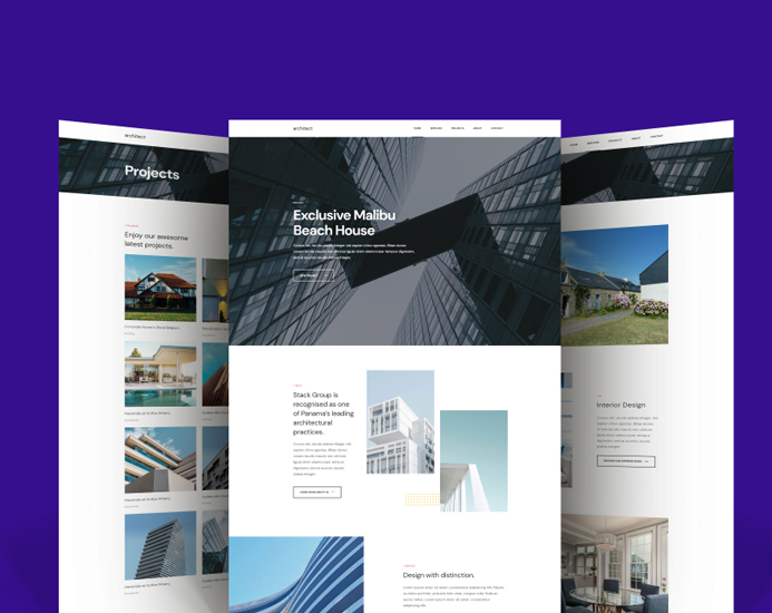 Joomla template for architecture and interior design