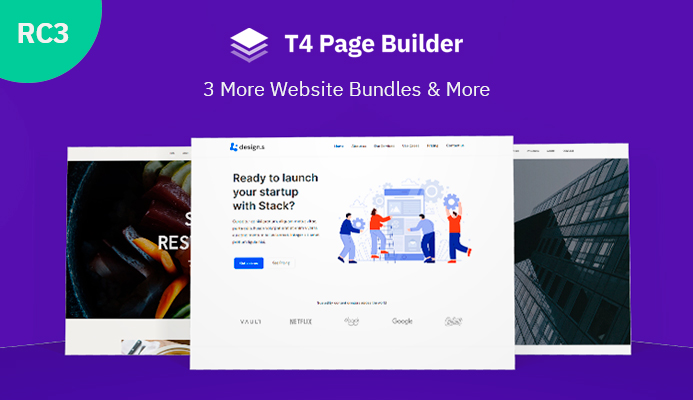 T4 Joomla page builder released