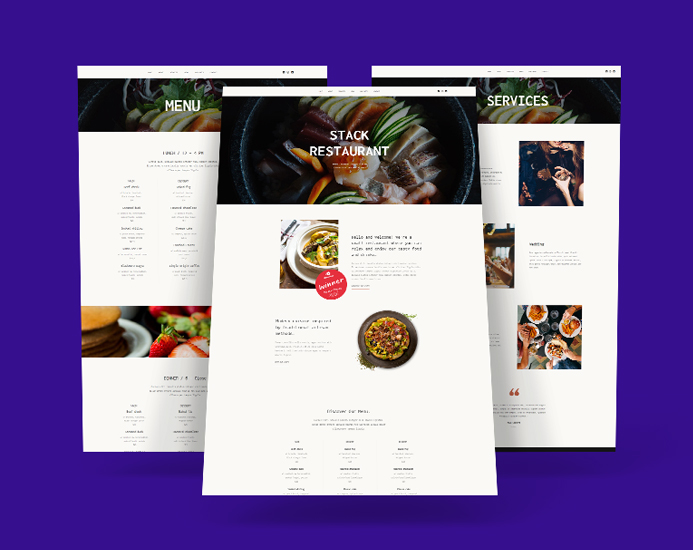 Joomla template for restaurant