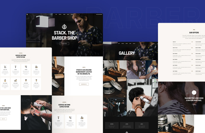 Joomla template for barber and beauty salon