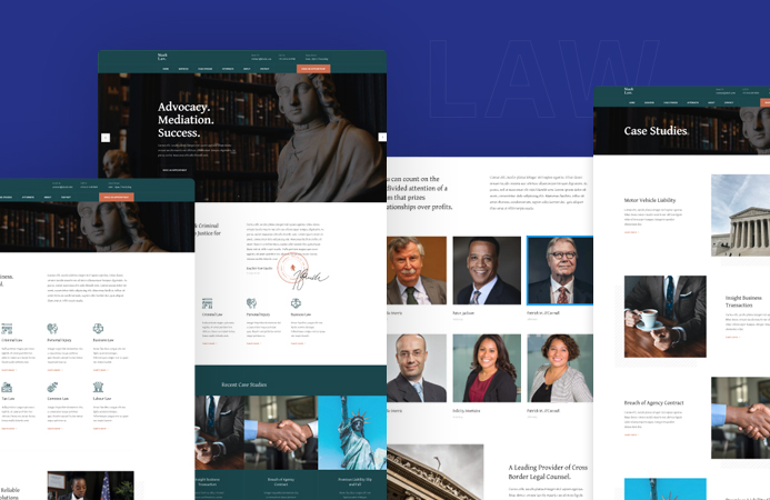 Joomla template for law firm