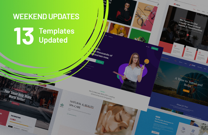 [Update] 13 Joomla templates updated for upgrade issue fix, Joomla 3.9.26, and more