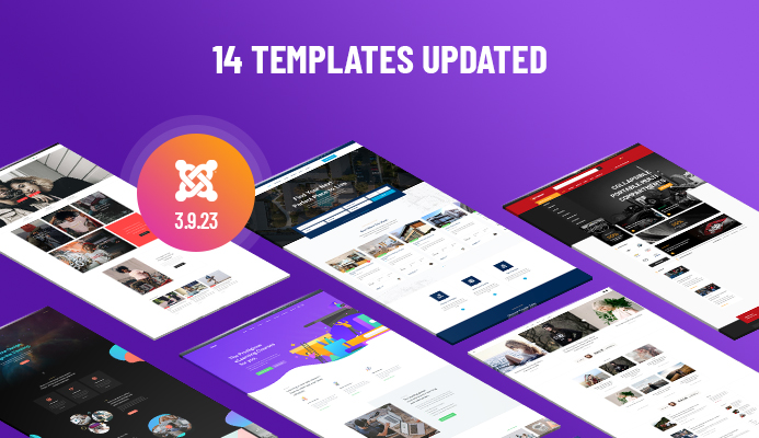 Weekend Updates: 14 Joomla templates updated for Joomla 3.9.23