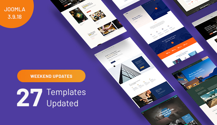 27 oomla templates updated for Joomla 3.9.18