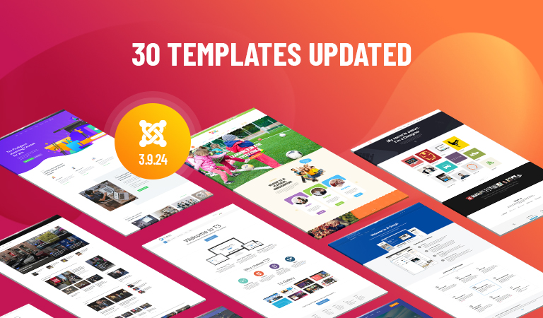 30 Joomla templates updated for Joomla 3.9.24