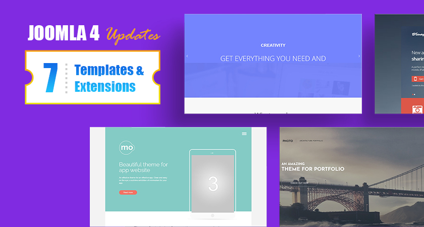 6 Joomla templates and 2 GK extensions updated for Joomla 4