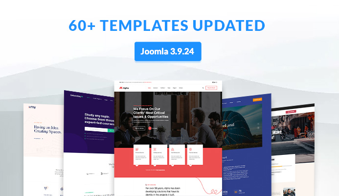 Weekend Updates: 64 Joomla templates updated for Joomla 3.9.24