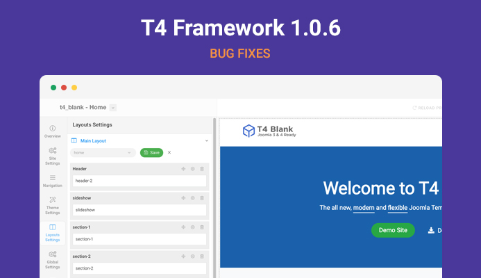 T4 Framework 1.0.6: updated for bug fixes
