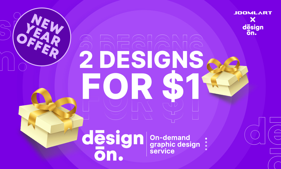 New year's resolution: Change the way you work, with DesignOn - Graphic Design on demand