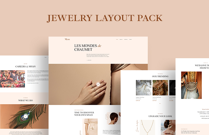 T4 Builder: New Jewelry Shop layout pack, lightbox image gallery and more