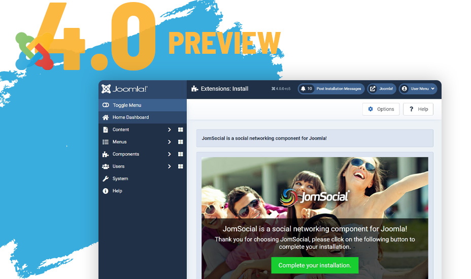 Preview Release: JomSocial 4.7.10 for Joomla 4 RC5 is here