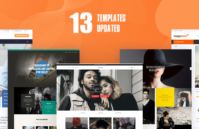 13 Joomla templates updated for Joomla 3.9.18