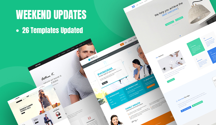 26 Joomla templates updated for Joomla 3.9.22