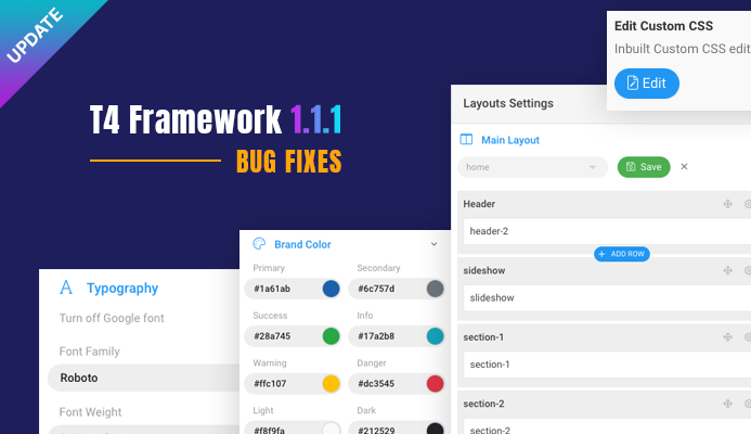 [Update] T4 Framework 1.1.1 updated for bug fixes.