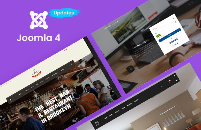 Updates: T4 Page builder and 4 more Joomla templates updated