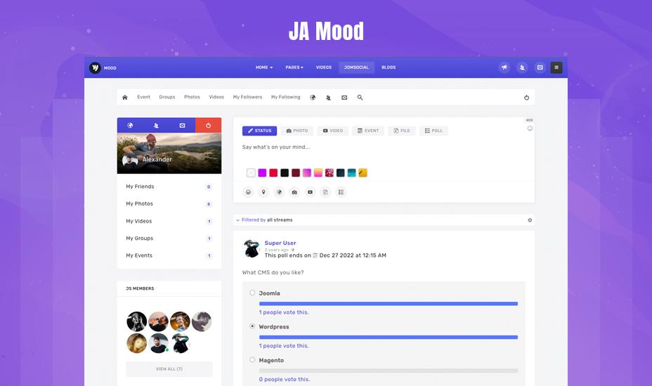 JomSocial component for Joomla 4