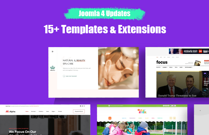 [Joomla 4] More Joomla templates and extensions updated for Joomla 4 and Joomla 3.10