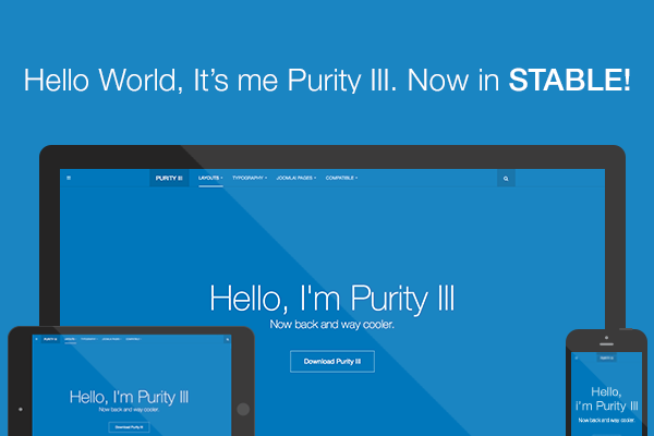 Free Responsive Joomla template - Purity III is now in stable