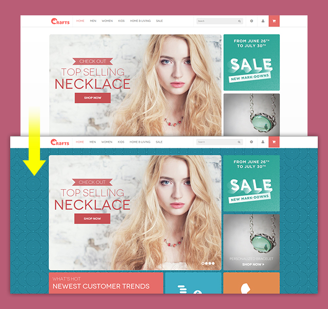 Magento theme backgrounds with JM Basetheme