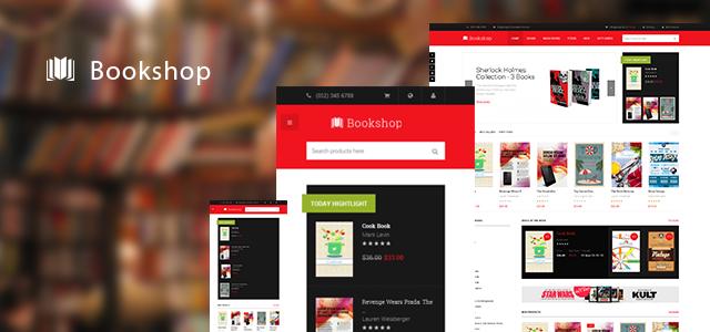 Responsive Magento theme JM Bookshop