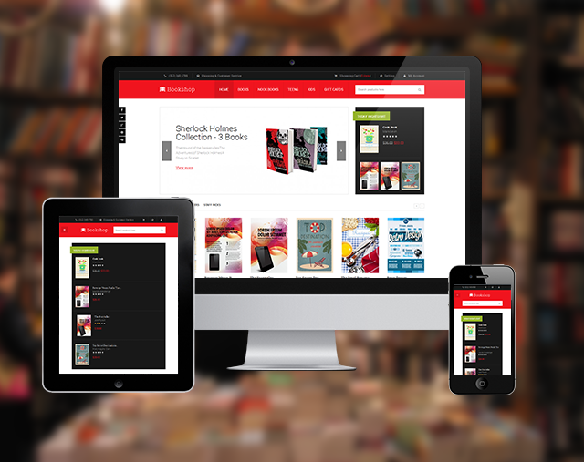 Responsive layout in Magento theme JM Bookshop