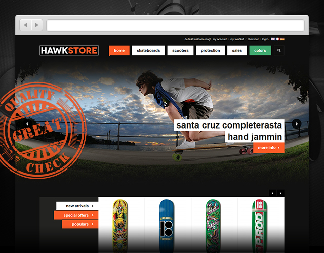 Review: Responsive Magento theme JM Hawkstore for Street sports
