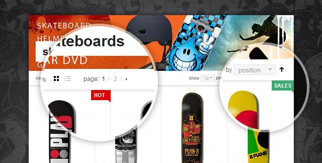 JM Product list on Magento theme JM Hawkstore