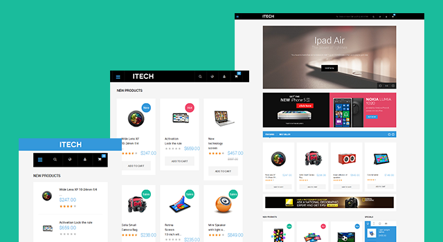 Responsive layout in Responsive Magento theme JM iTech