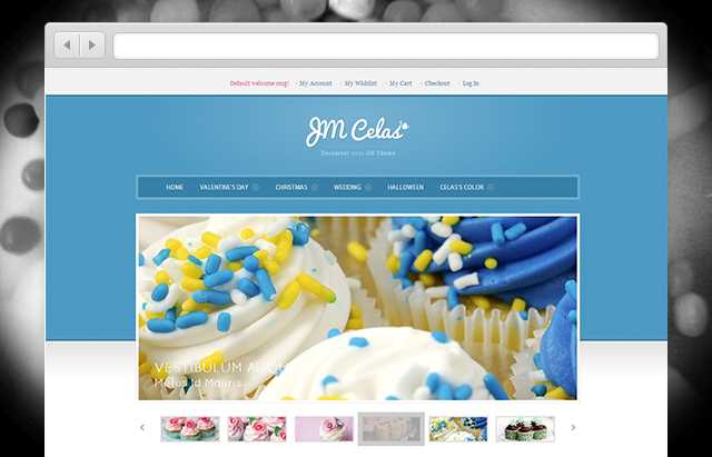 JM Celas Magento theme for bakeries e-stores