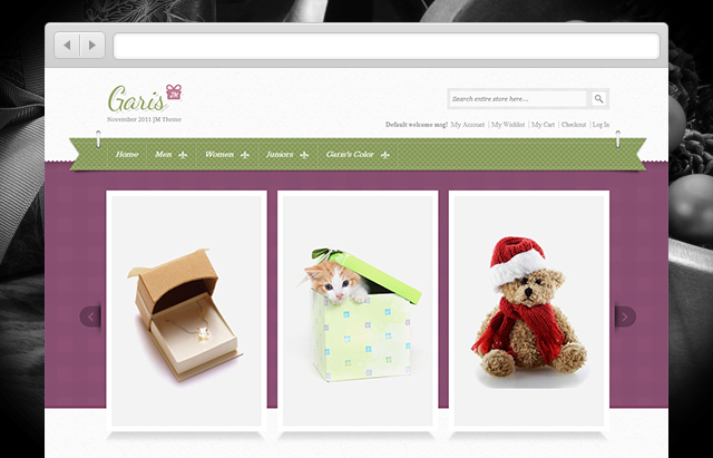 JM Garis Magento theme for gift shops