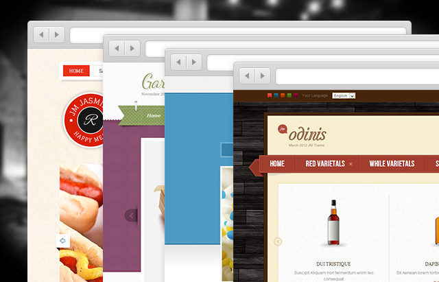 Magento themes with texture in design