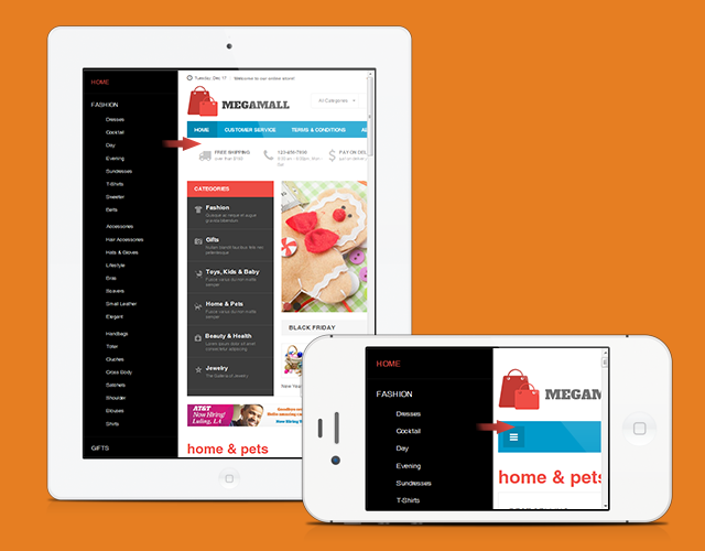 Ready for Mobile Commerce with Magento theme JM Megamall | Joomla ...