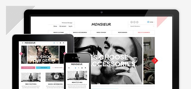 Responsive layout in Magento theme JM Monsieur