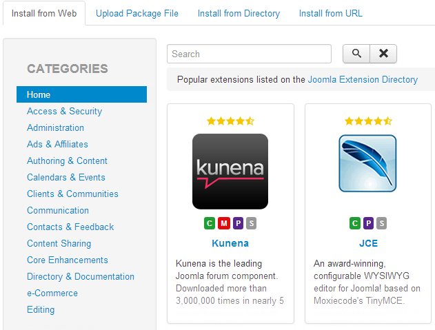 Joomla Extensions Finder