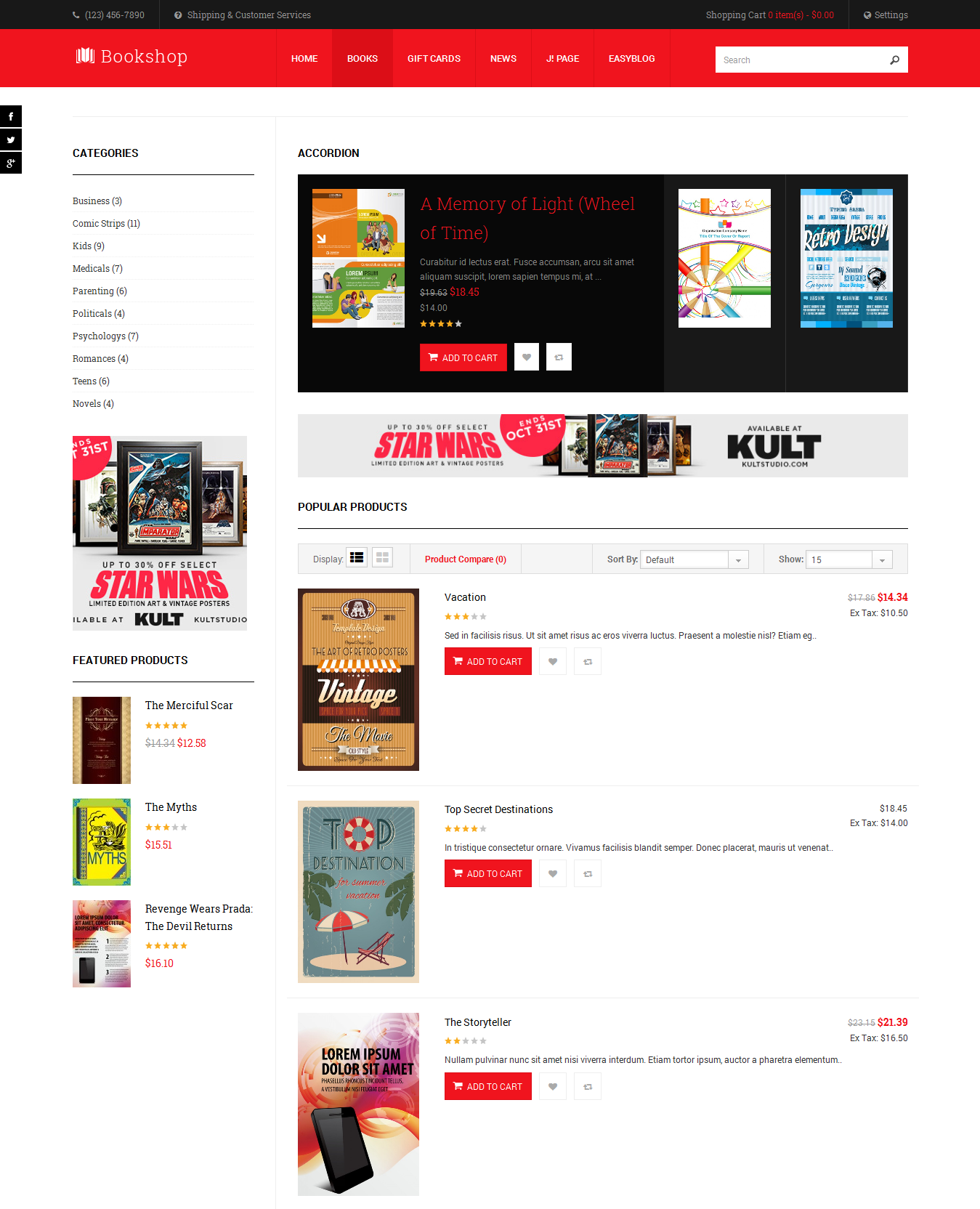 Review responsive joomla template for book stores ja for Blogger product review template
