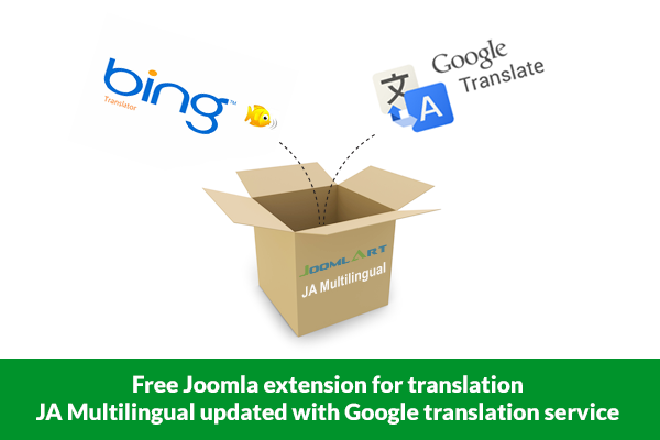 JA Multiligual extension for Joomla - with Google translate