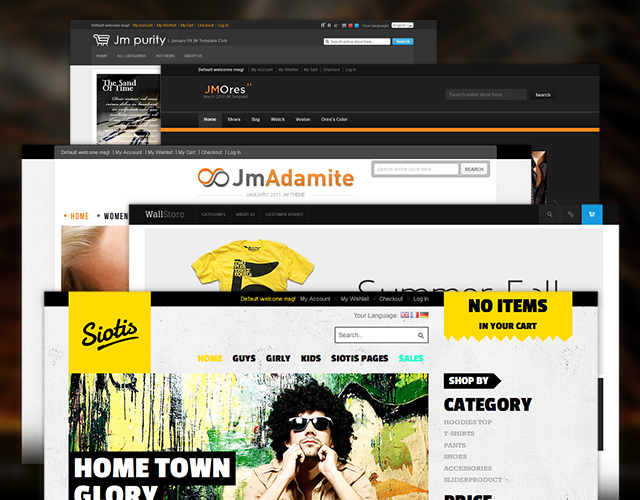 Magento themes at JoomlArt - Design evolution through time