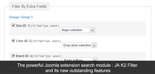 JA K2 filter & Search Joomla extension is now more powerful