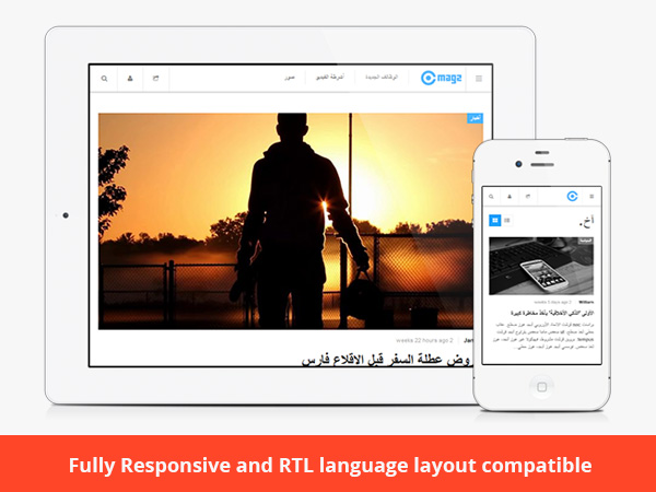 JA Magz is fully responsive and RTL language layout compatible