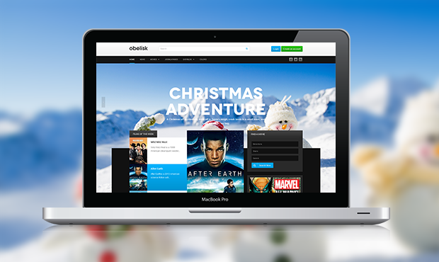 Review - Responsive Joomla template for Movies - JA Obelisk