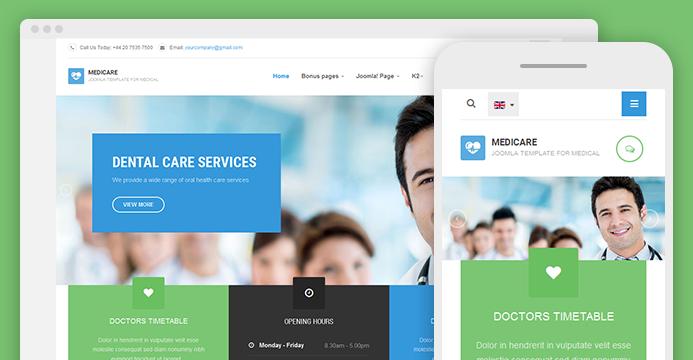 responsive joomla template for hospitals