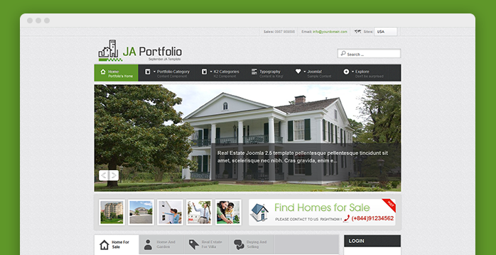 Responsive joomla template for portfolio