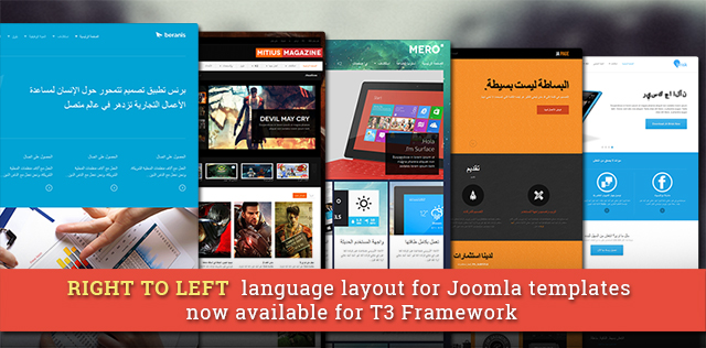 Right to left (RTL) language layout for Joomla templates now available - Major update