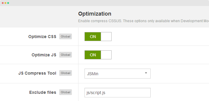 Optimize CSS and JS